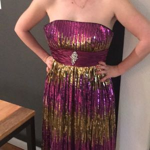 Gown-Mardi Gras-Prom ⚜️🌟⚜️💚💜💛